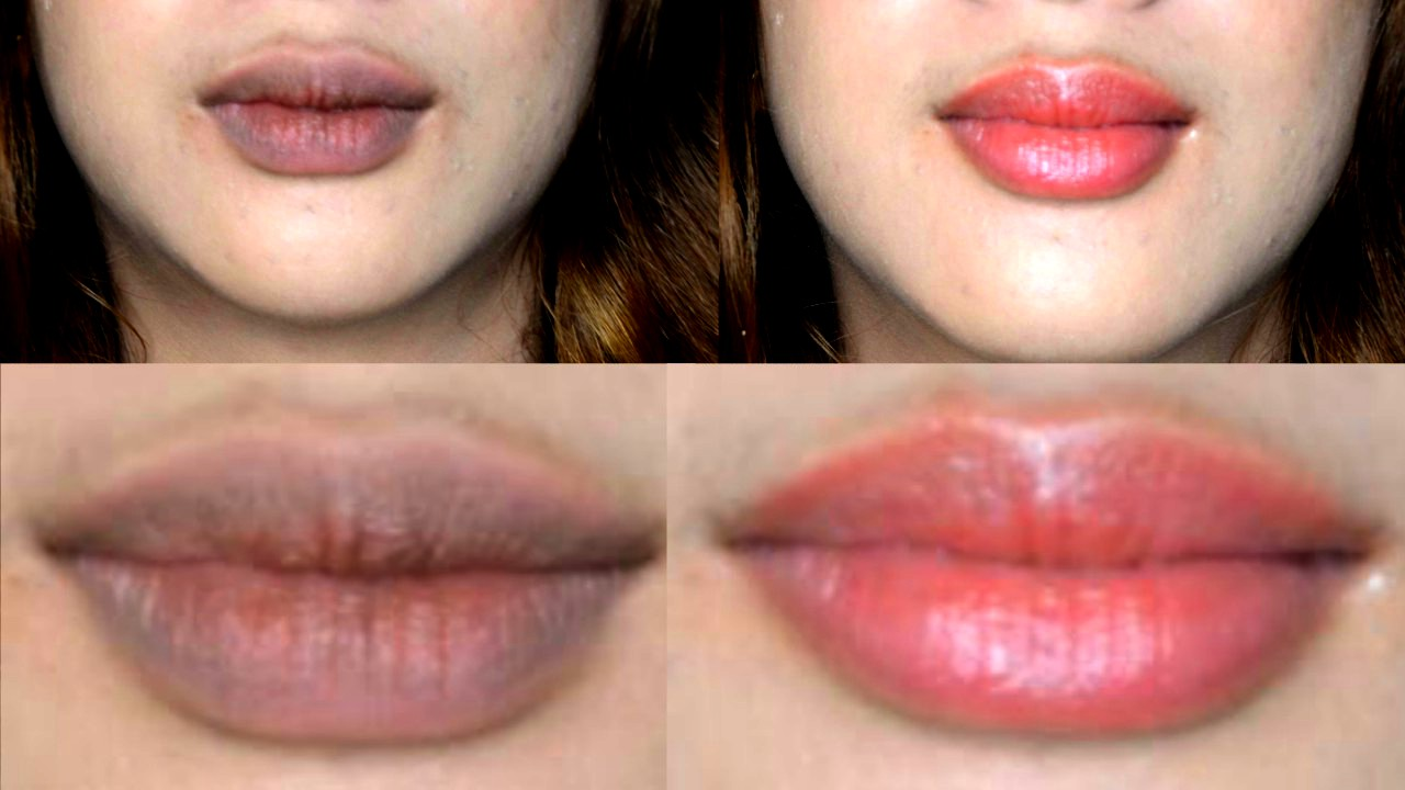 how to lighten dark lips